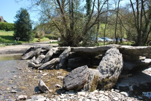 Tarr Steps - the construction makes is vulnerable to being washed away.